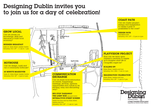 Map of events in Clongriffin 28th November 2009